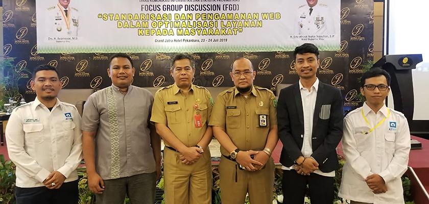 Gambar Diskominfotik Riau Undang Dosen PCR pada Kegiatan Diskusi Kelompok Terpumpun Standarisasi dan Pengamanan Website