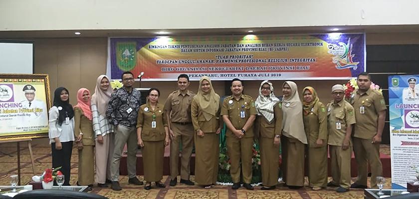 Gambar Kembangkan Sistem Analisis Jabatan dan Analisis Beban Kerja, Biro Organisasi Sekretariat Provinsi Riau Gandeng Dosen PCR