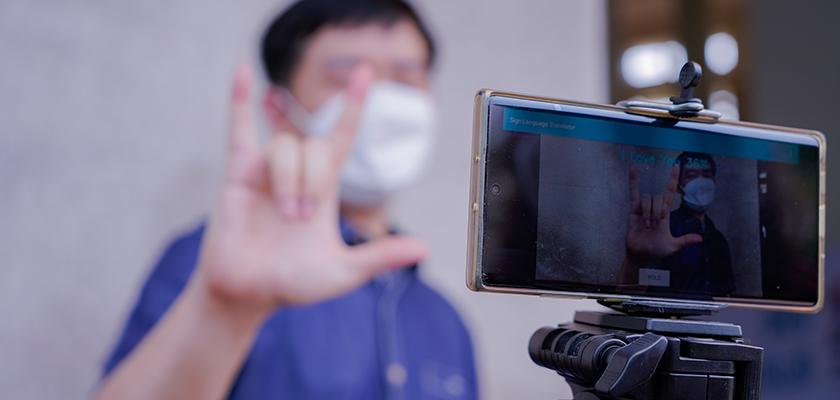 Gambar Keren, Mahasiswa PCR Ciptakan Aplikasi Pembaca Bahasa Isyarat Berbasis Andoid