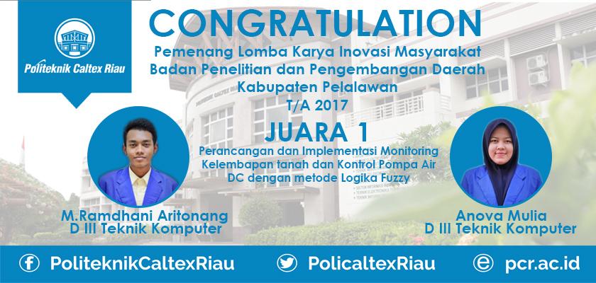 Gambar Mahasiswa PCR Raih Juara Lomba Karya Inovasi Balitbangda Pelalawan