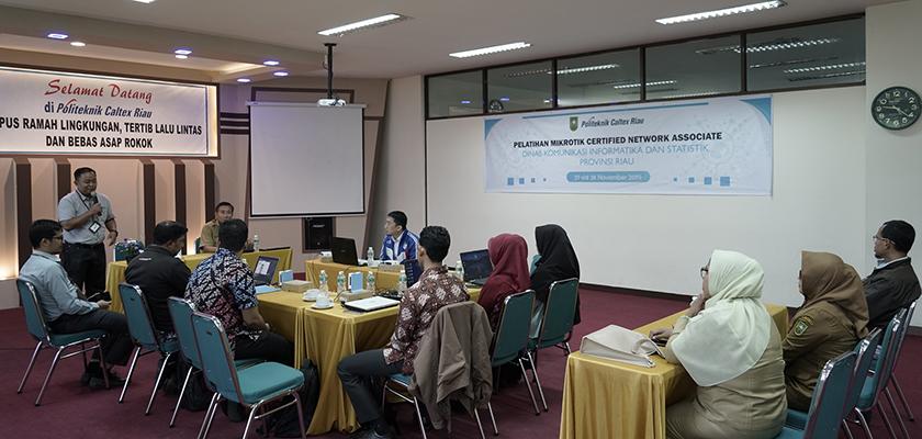Gambar PCR Adakan Pelatihan Mikrotik Certified Networks Associate untuk ASN dan THL Diskominfotik Provinsi Riau