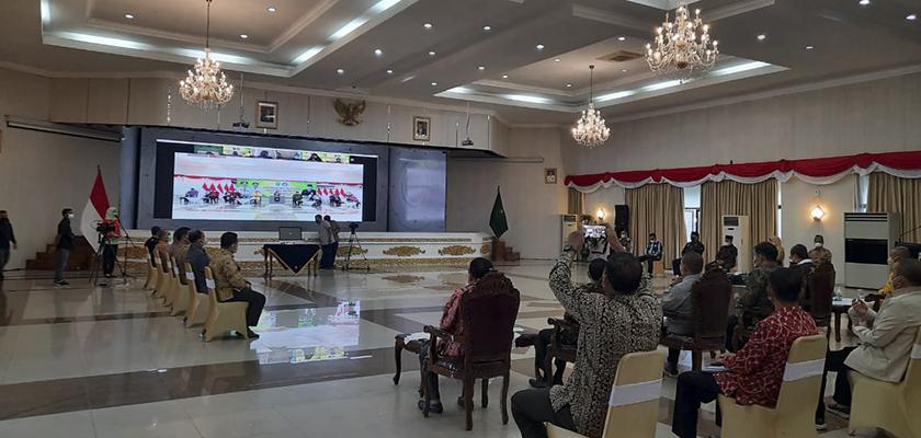Gambar PCR Dampingi Dinas Pendidikan Provinsi Riau dalam Pelaksanaan PPDB 2021