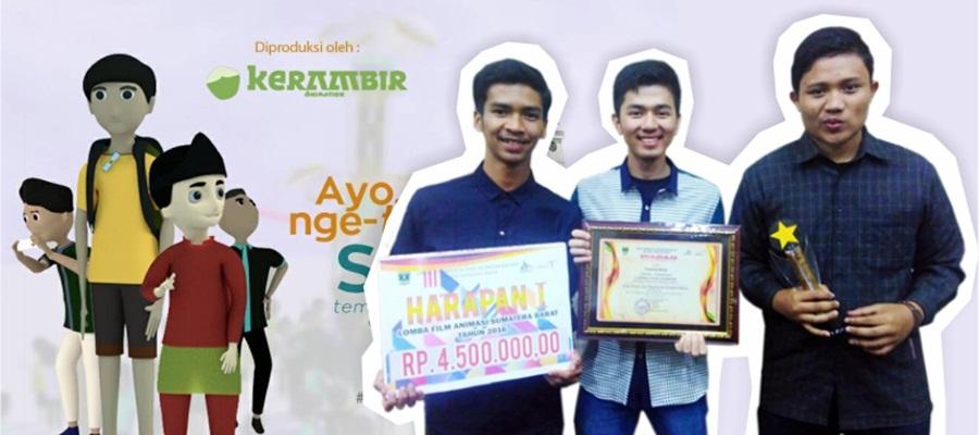 Gambar PCR Juara Harapan I lomba animasi Disparekraf Sumatera Barat