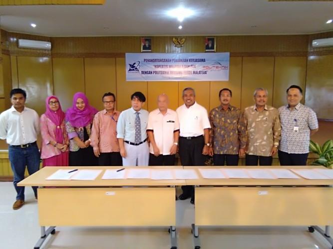 Gambar PCR Tandatangani Kerjasama dengan Politeknik Mersing Johor Malaysia