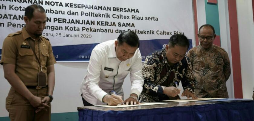 Gambar Pemerintah Kota Pekanbaru Sepakat Jalin Kerja Sama dengan Politeknik Caltex Riau