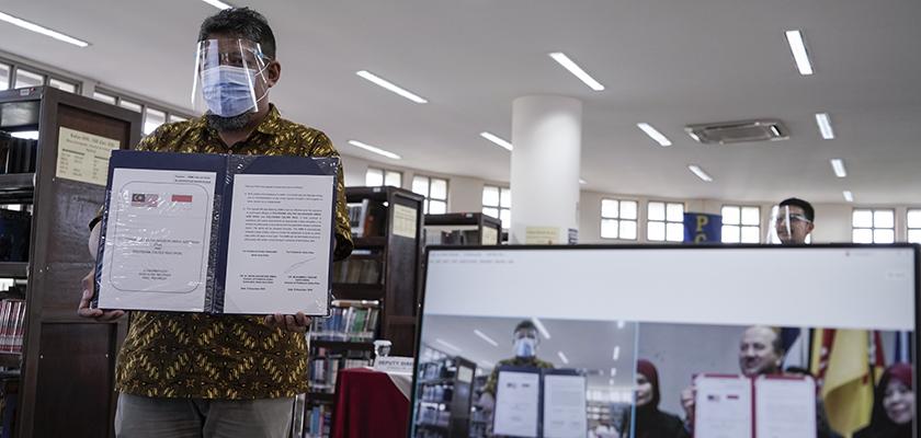 Gambar Perpustakaan PCR Jalin Kerja Sama dengan Perpustakaan PSA Malaysia