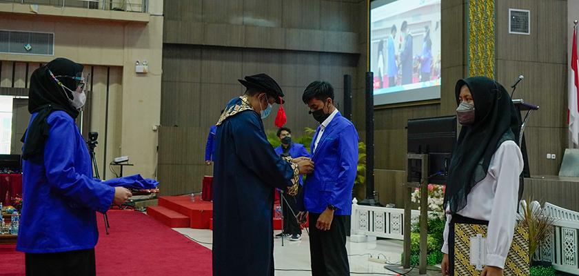 Gambar Politeknik Caltex Riau Lantik 509 Mahasiswa Baru tahun 2021.