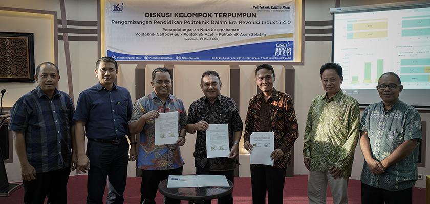 Gambar Tingkatkan Mutu Pendidikan Tinggi Vokasi, Politeknik Caltex Riau Jalin Kerja Sama dengan Politeknik Aceh dan Politeknik Aceh Selatan
