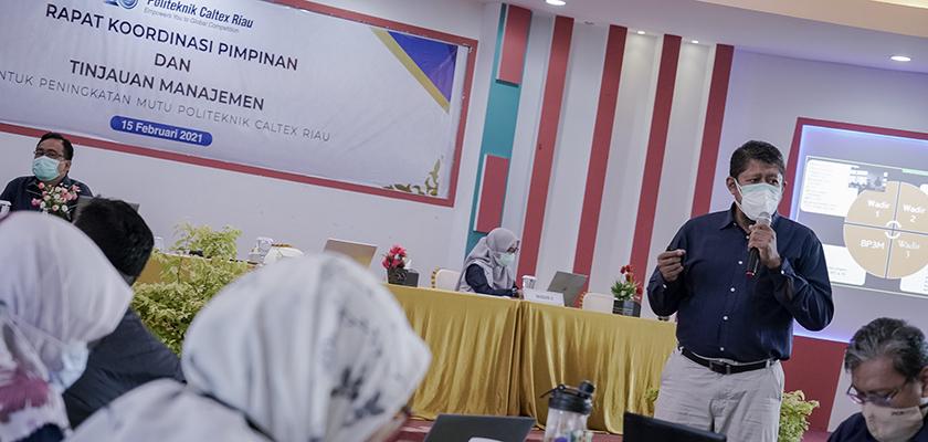 Gambar Tingkatkan Mutu Politeknik Caltex Riau, PCR Gelar Rapat Koordinasi Pimpinan dan Manajemen