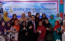 Adakan Seminar Mengabdi Sepenuh Hati, PCR Undang Guru BK Se-Provinsi Riau