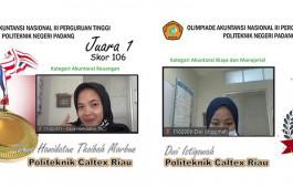 Dua Mahasiswa PCR Raih Juara 1 Pada Olimpiade Akuntansi Nasional III Perguruan Tinggi di Politeknik Negeri Padang