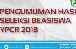 PENGUMUMAN BEASISWA YPCR 2018