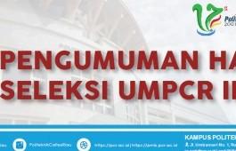 PENGUMUMAN UMPCR III Tahun 2018