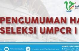 PENGUMUMAN UMPCR I 2018
