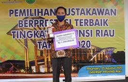 Pustakawan PCR Raih Harapan II pada Ajang Pemilihan Pustakawan Berprestasi Tingkat Provinsi Riau 2020