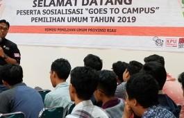 Sosialisasi Pemilu 2019, KPU Goes to Campus Kunjungi PCR