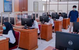 Terapkan Prokes Ketat, 107 Peserta Ikuti Ujian Seleksi Beasiswa Bidikmisi dan Tahfidz Pemprov Riau di PCR