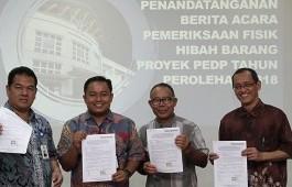Tim Pemeriksa Ditjen Belmawa dan PMU PEDP Periksa 508 Barang Hibah Proyek PEDP 2018 Politeknik Caltex Riau
