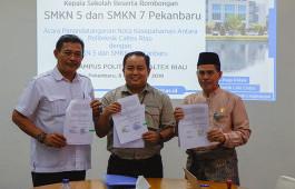 Tingkatkan Pendidikan Vokasi di Pekanbaru, PCR Jalin Kerja Sama dengan SMKN 5 dan SMKN 7