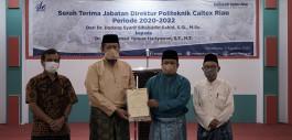 Gambar Dr. Mohammad Yanuar Resmi Jabat Direktur Politeknik Caltex Riau periode 2020 - 2022
