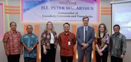 Gambar Duta Besar Kanada Kunjungi PCR Terkait PEDP