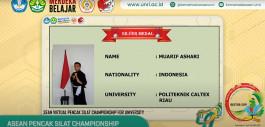 Gambar Mahasiswa PCR Raih Medali Perak pada ASEAN Pencak Silat Championship for University Student