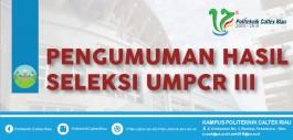Gambar PENGUMUMAN UMPCR III Tahun 2018