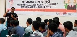 Gambar Sosialisasi Pemilu 2019, KPU Goes to Campus Kunjungi PCR