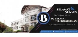 Gambar Teknik Telekomunikasi Raih Akreditasi B