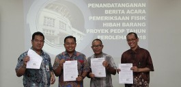 Gambar Tim Pemeriksa Ditjen Belmawa dan PMU PEDP Periksa 508 Barang Hibah Proyek PEDP 2018 Politeknik Caltex Riau