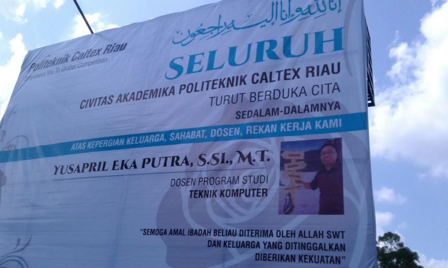 PCR berduka untuk Pak Yusapril Eka Putra