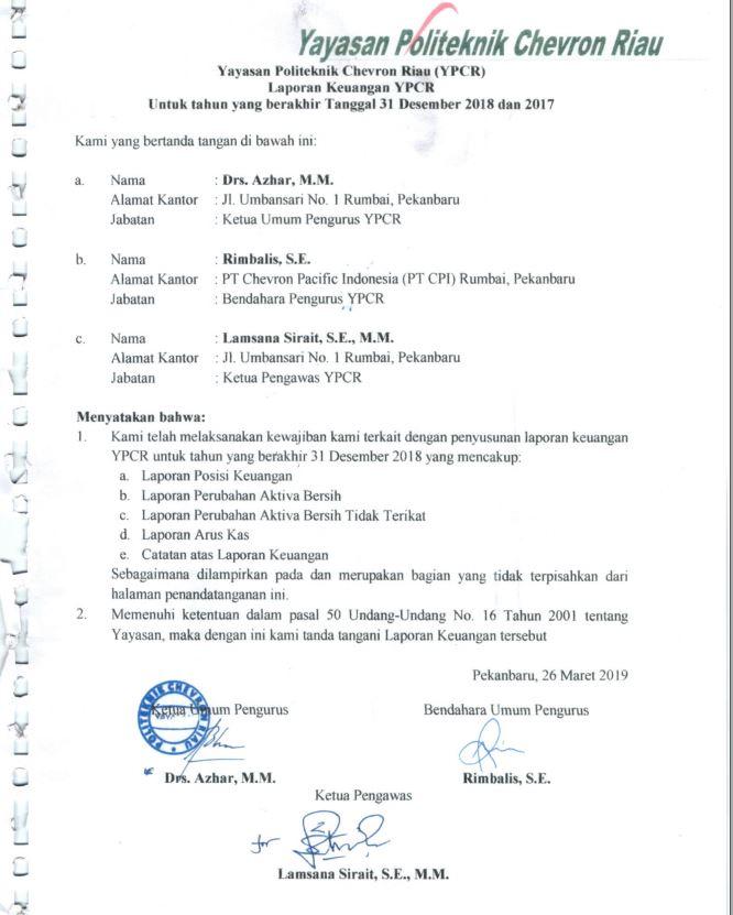 Pcr Laporan Keuangan 2018